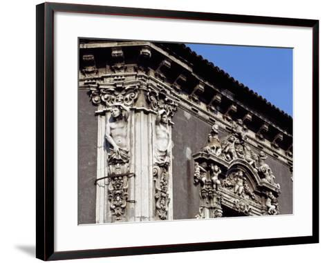 Italy, Sicily, Catania, Palazzo Biscari, Facade Rococo Decoration, Detail--Framed Art Print