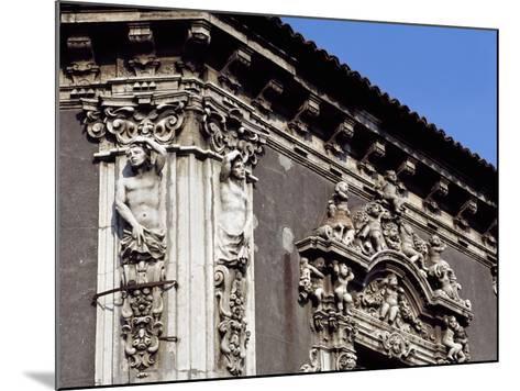 Italy, Sicily, Catania, Palazzo Biscari, Facade Rococo Decoration, Detail--Mounted Giclee Print