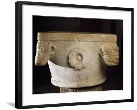 Font with Roman Capital Ruins, Cathedral of Asti--Framed Art Print