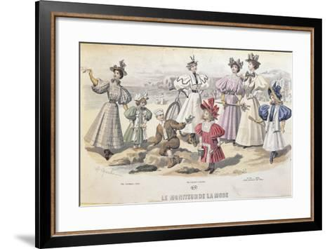 On the Beach. from Moniteur De La Mode, 1895--Framed Art Print