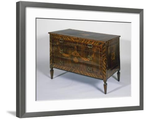 Neoclassical Style Lombard Chest of Drawers with Giuseppe Maggiolini Style Inlays, Italy--Framed Art Print