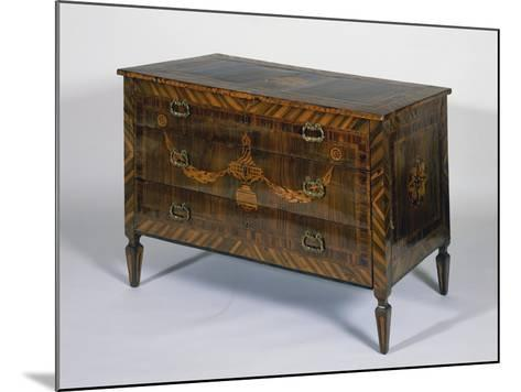 Neoclassical Style Lombard Chest of Drawers with Giuseppe Maggiolini Style Inlays, Italy--Mounted Giclee Print