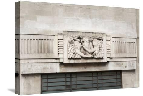 Eric Gill Relief Sculpture on the Outside of BBC Broadcasting House in Portland Place, London, UK--Stretched Canvas Print