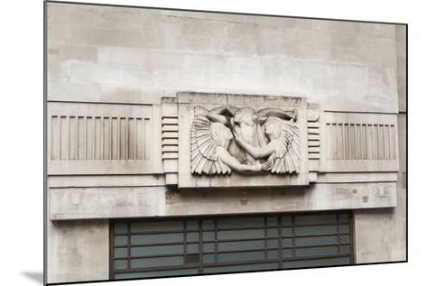 Eric Gill Relief Sculpture on the Outside of BBC Broadcasting House in Portland Place, London, UK--Mounted Giclee Print