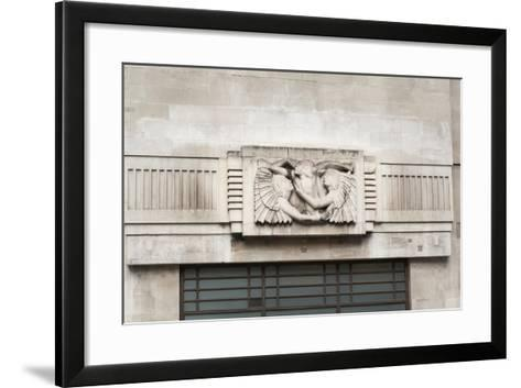 Eric Gill Relief Sculpture on the Outside of BBC Broadcasting House in Portland Place, London, UK--Framed Art Print
