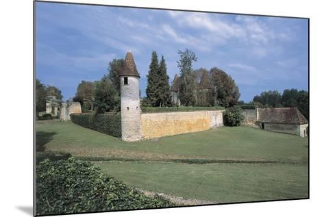 Castle on a Landscape, Mauriac Castle, Douzillac, Aquitaine, France--Mounted Giclee Print