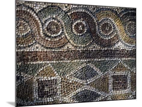 Fragment of Mosaic with Geometric Patterns Uncovered in Agora of Smyrna, Turkey--Mounted Giclee Print
