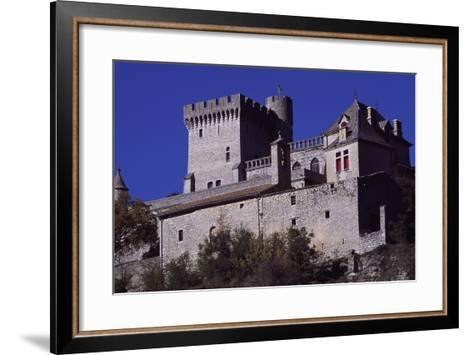 View of Chateau De Aulan, Rhone-Alpes, France, 12th Century--Framed Art Print