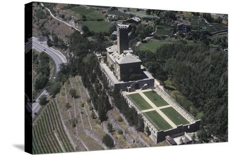 Italy, Aosta Valley, Castle of Sarre, Aerial View--Stretched Canvas Print