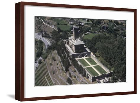 Italy, Aosta Valley, Castle of Sarre, Aerial View--Framed Art Print