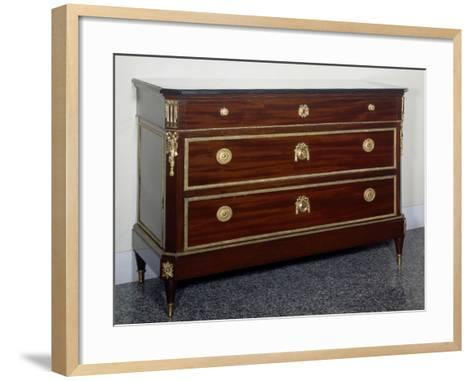Directoire Style Mahogany Chest of Drawers with Gilt Bronzes, France--Framed Art Print