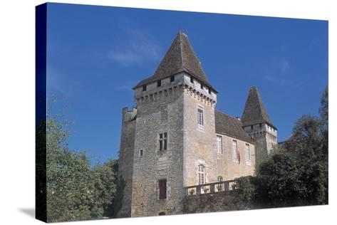 Low Angle View of a Castle, La Marthonie Castle, Aquitaine, France--Stretched Canvas Print