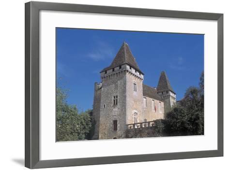 Low Angle View of a Castle, La Marthonie Castle, Aquitaine, France--Framed Art Print