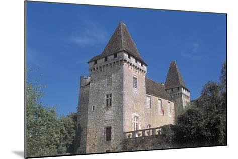 Low Angle View of a Castle, La Marthonie Castle, Aquitaine, France--Mounted Giclee Print
