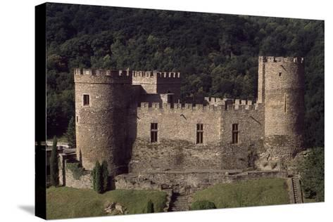 View of Fortified Chateau De Chouvigny, Auvergne, France, 13th Century--Stretched Canvas Print