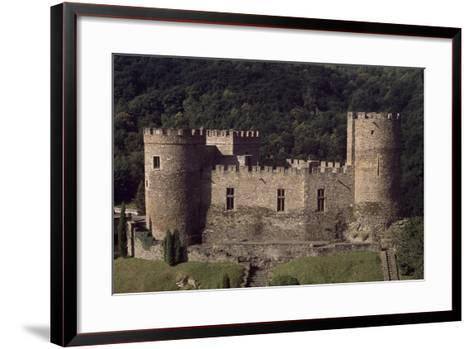 View of Fortified Chateau De Chouvigny, Auvergne, France, 13th Century--Framed Art Print