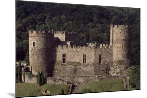 View of Fortified Chateau De Chouvigny, Auvergne, France, 13th Century--Mounted Giclee Print
