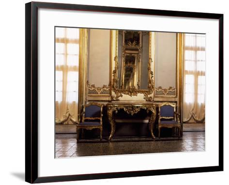 Italy, Sicily, Catania, Palazzo Biscari, the Ballroom, Furniture--Framed Art Print