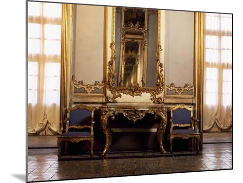Italy, Sicily, Catania, Palazzo Biscari, the Ballroom, Furniture--Mounted Giclee Print