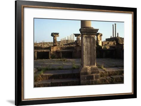 Algeria, Timgad, Roman Colonial Town Founded by Emperor Trajan around 100 A.D, Ruins--Framed Art Print