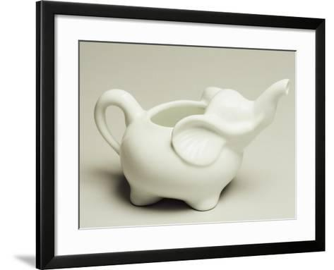 Elephant-Shaped Milk Jug, Ceramic, La Porcellana Bianca, Italy--Framed Art Print