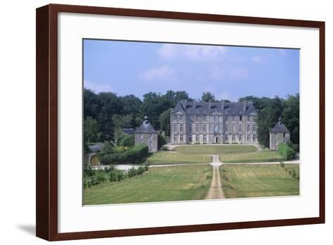 France, Brittany, Morbihan, Fortress and Garden of 18th Century Loyat Castle--Framed Art Print