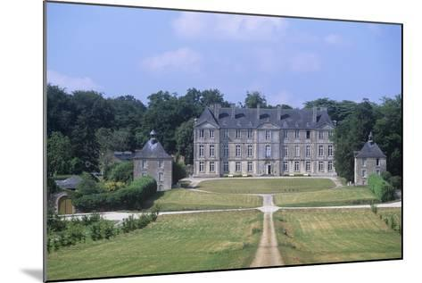 France, Brittany, Morbihan, Fortress and Garden of 18th Century Loyat Castle--Mounted Giclee Print