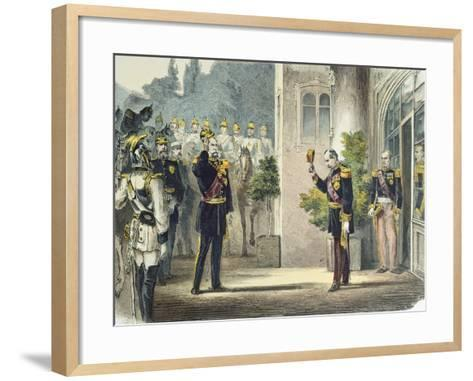Napoleon III and Wilhelm I of Prussia--Framed Art Print