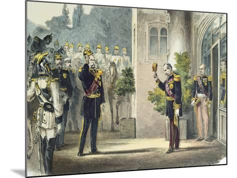 Napoleon III and Wilhelm I of Prussia--Mounted Giclee Print