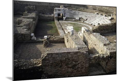 Ruins of Roman Theatre of Albintimilium, Ventimiglia, Liguria, Italy Ad--Mounted Giclee Print