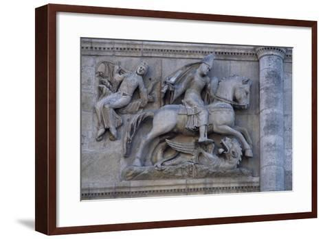 Facade of Angouleme Cathedral, Angouleme, Poitou-Charentes, France--Framed Art Print