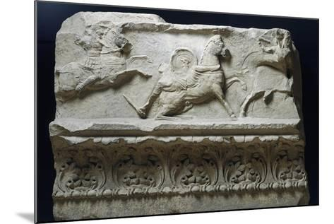 Horseback Riding from Temple of Apollo Sosianus, Rome, Italy--Mounted Giclee Print