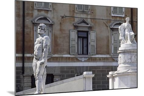 Italy, Friuli-Venezia Giulia, Udine, View of Freedom Square with Statue of Cacus and Peace--Mounted Giclee Print