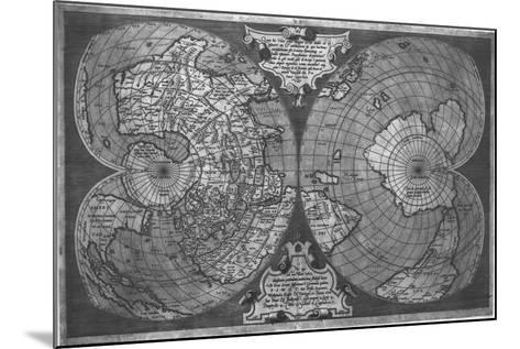 Double Cordiform World Map by Antonio Salamanca, Copperplateed in Roma 1550--Mounted Giclee Print