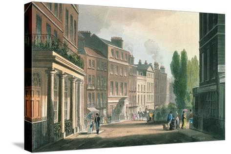 Leicester Square, Ackermann's Repository of Arts, Literature, Manufacture, Fashions and Politics--Stretched Canvas Print