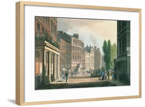 Leicester Square, Ackermann's Repository of Arts, Literature, Manufacture, Fashions and Politics--Framed Art Print