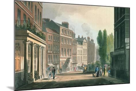 Leicester Square, Ackermann's Repository of Arts, Literature, Manufacture, Fashions and Politics--Mounted Giclee Print