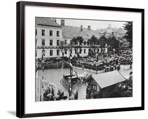 Arrival of the New Norwegian King Haakon VII in Bergen, 1906--Framed Art Print