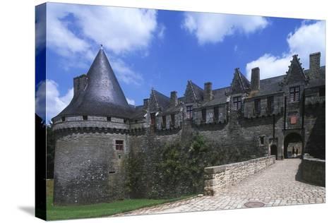 France, Brittany, Morbihan, Pontivy Rohan Castle--Stretched Canvas Print