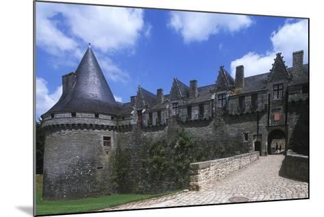 France, Brittany, Morbihan, Pontivy Rohan Castle--Mounted Giclee Print