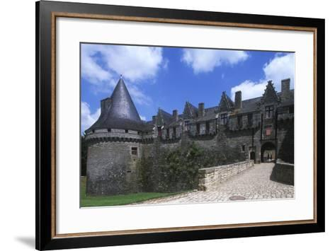 France, Brittany, Morbihan, Pontivy Rohan Castle--Framed Art Print