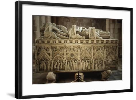 Portugal, Alcobaca, Tomb of Ines De Castro at Cistercian Monastery--Framed Art Print