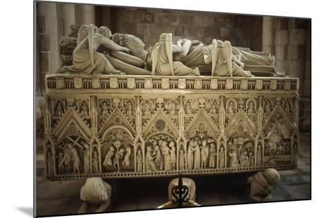 Portugal, Alcobaca, Tomb of Ines De Castro at Cistercian Monastery--Mounted Giclee Print