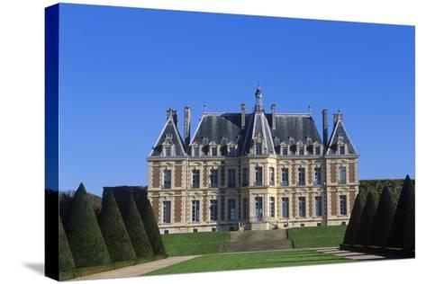 France, Ile-De-France, Main Façade and Garden of 15th Century Sceaux Castle--Stretched Canvas Print