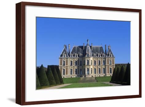 France, Ile-De-France, Main Façade and Garden of 15th Century Sceaux Castle--Framed Art Print