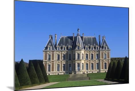 France, Ile-De-France, Main Façade and Garden of 15th Century Sceaux Castle--Mounted Giclee Print