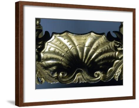 Carving from Carved and Gilt Wood Armchair, Soragna Castle, Emilia Romagna, Italy--Framed Art Print