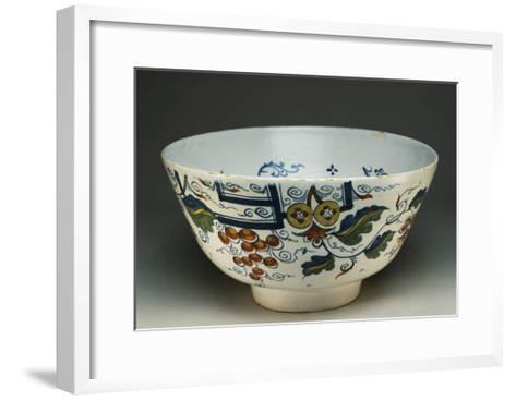 Punch Cup with Squirrels and Vines, Ca 1730--Framed Art Print