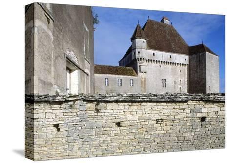 View of Chateau De Rosieres, Near Saint-Seine-Sur-Vingeanne, Burgundy, France, 14th-15th Century--Stretched Canvas Print