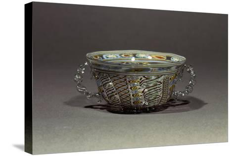 Two-Handled Bowl in Decorated Crystal Glass, Italy, 16th-17th Century--Stretched Canvas Print